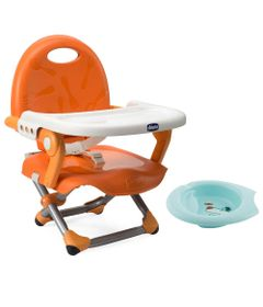 Kit-de-Pocket-Assento-Elevatorio---Pocket-Snack---Mandarino-e-Bowl-de-Alimentacao-Azul---Chicco