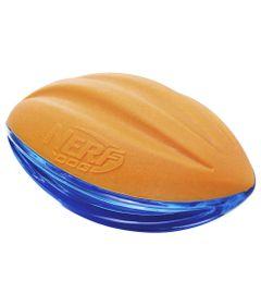 Brinquedo-para-Pets---Bolinha-de-Futebol-Americano---15Cm---Laranja-e-Azul---NERF-Dogs