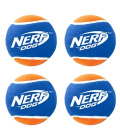 Brinquedo-para-Pets---Conjunto-com-4-Bolinhas-de-Tenis---6Cm---NERF-Dogs