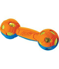 Brinquedo-para-Pets---Ossinho-Plastico---17Cm---Laranja-e-Azul---NERF-Dogs