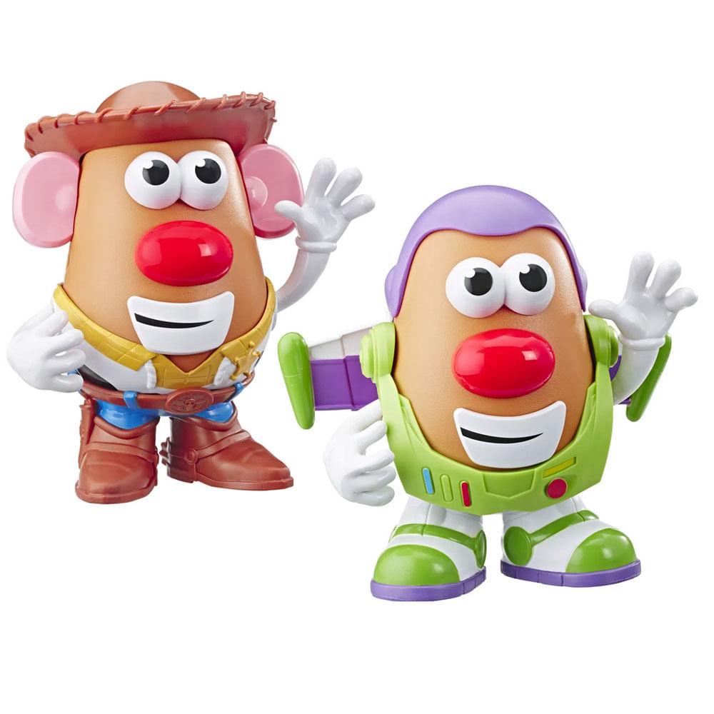 Kit de Bonecos Mr. Potato Head - Disney - Toy Story 4 - Wood e Buzz Lightyear - Hasbro