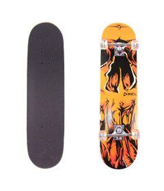 Skate---Skateboard---Semi-Pro---Caveira-Laranja---Bel-Sports---Bel-Fix_Frente