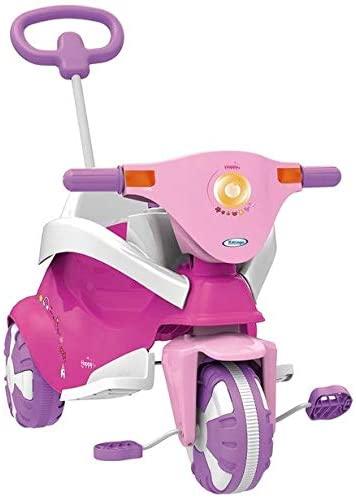 Triciclo Happy Pink 3 em 1 com Empurrador - Xalingo