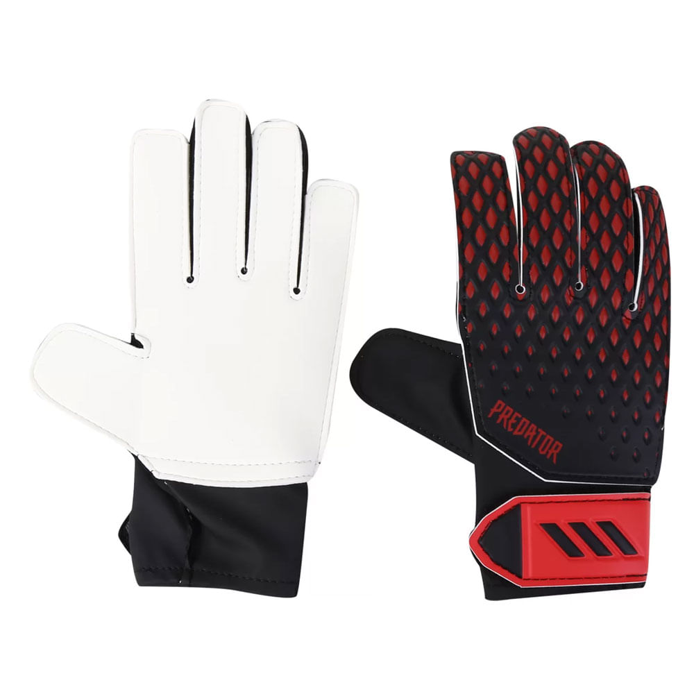 Luvas de Goleiro - Nº 5 - Jr Training - Predator - Vermelho e Preto - Adidas