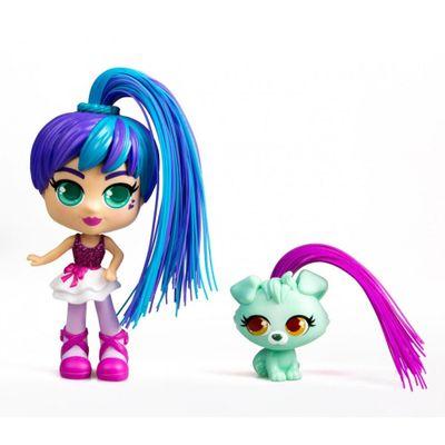 Oferta Mini Boneca - Curli Girls e Mascote - Rosli e Koda - Novabrink por R$ 137.99