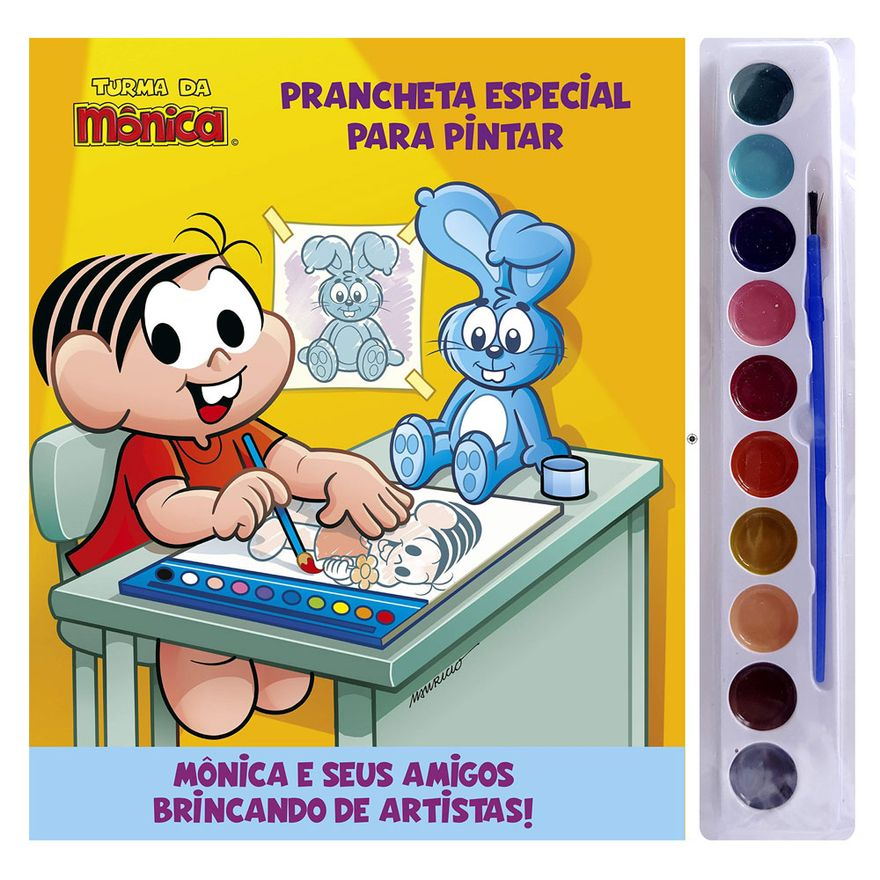Livro Aquarela Infantil da Turma da Mônica - Catavento