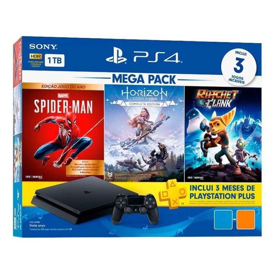 Console---Playstation-4---Slim-Bundle-Hits-V15---Family---1TB---Sony
