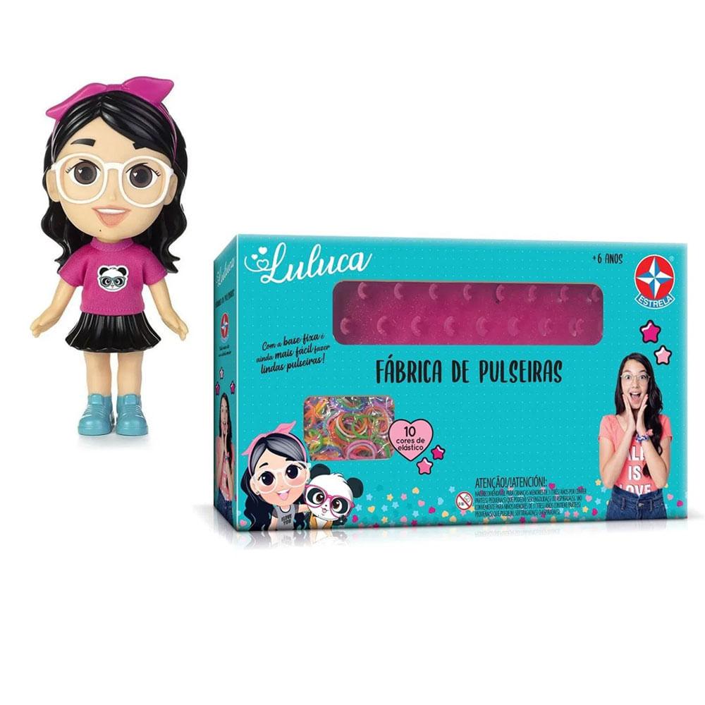 Kit De Boneca De Vinil - 20Cm - Luluca e Fábrica De Pulseiras - Luluca - Estrela