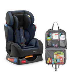 Kit-de-Cadeira-para-Auto---De-0-a-25-Kg---Hug---Azul-com-Organizador-para-Carro---Fisher-Price