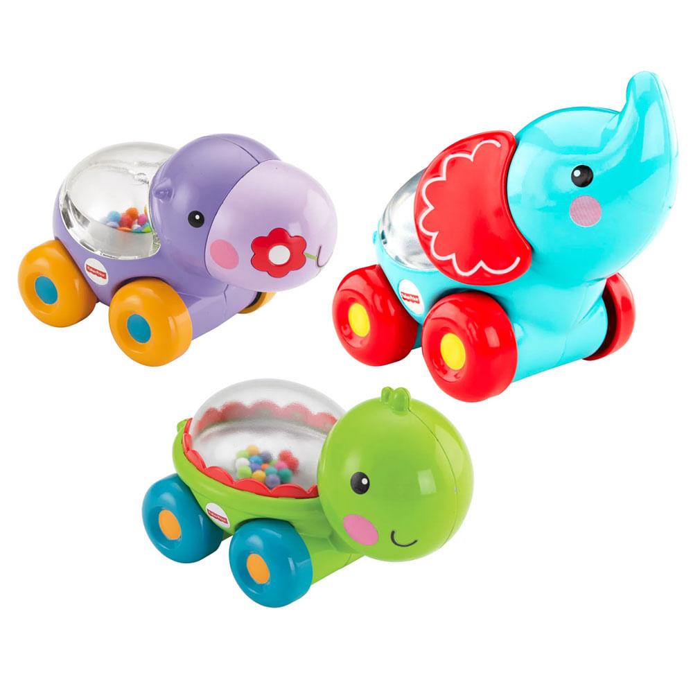 Kit de Veículos dos Animais - 3 Animais - Fisher-Price