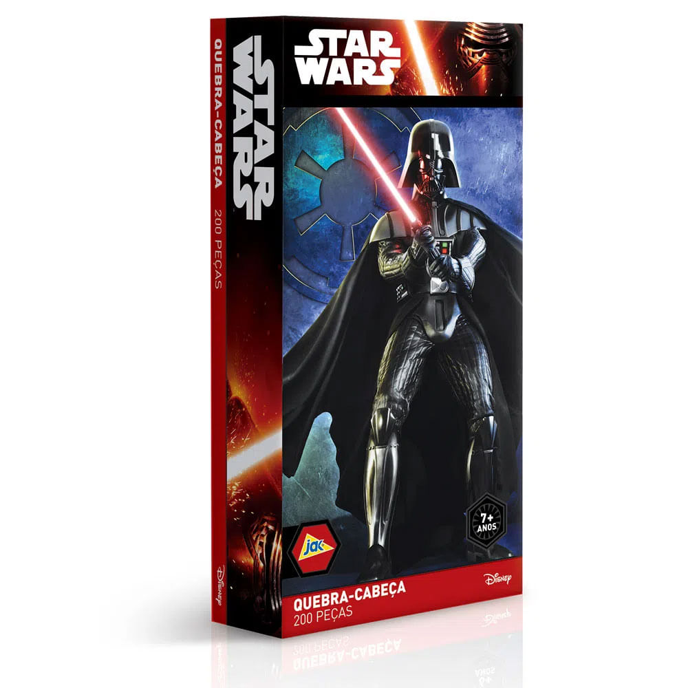 Quebra-Cabeça Star Wars - Darth Vader - 200 Peças - Toyster - Disney