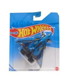 Aviao-Hot-Wheels---Flying-Dagger---Azul---Mattel