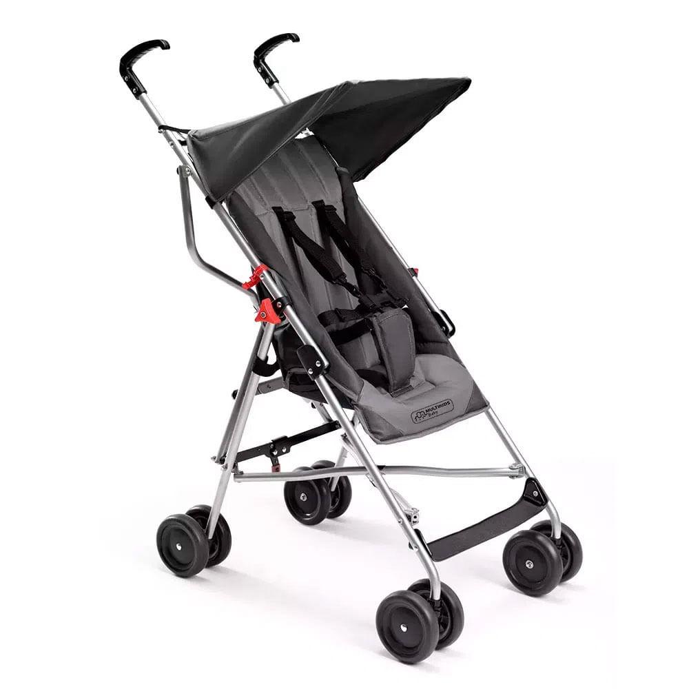 Carrinho de Passeio - Pocket - Cinza - Multikids Baby