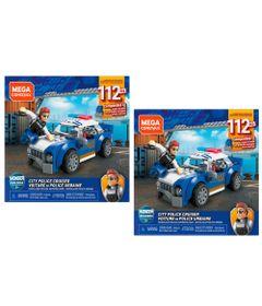 Kit-de-Blocos-de-Encaixe---Mega-Construx---Wonder-Builders---Carro-de-Policia---Mattel