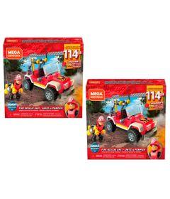 Kit-de-Blocos-de-Encaixe---Mega-Construx---Wonder-Builders---Unidade-de-Resgate---Bombeiros---Mattel