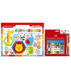 Kit-de-Colorir-com-Livro-Aprendendo-com-os-Animais-e-Lapis-de-Cor---24-Cores---3---Faber-Castell