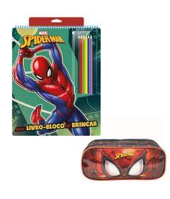 Kit-de-Colorir-com-Livro-Bloco-e-Estojo-Duplo---Disney---Marvel---Spider-Man---Xeryus