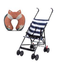 Kit-de-Carrinho-de-Passeio---Navy---Azul-e-Almofada-Protetora-de-Pescoco---Multikids-Baby