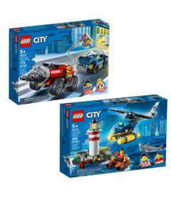 Kit-LEGOS-City---Policia-de-Elite---Perseguicao-de-Carro-Perfurador-e-Captura-no-Farol