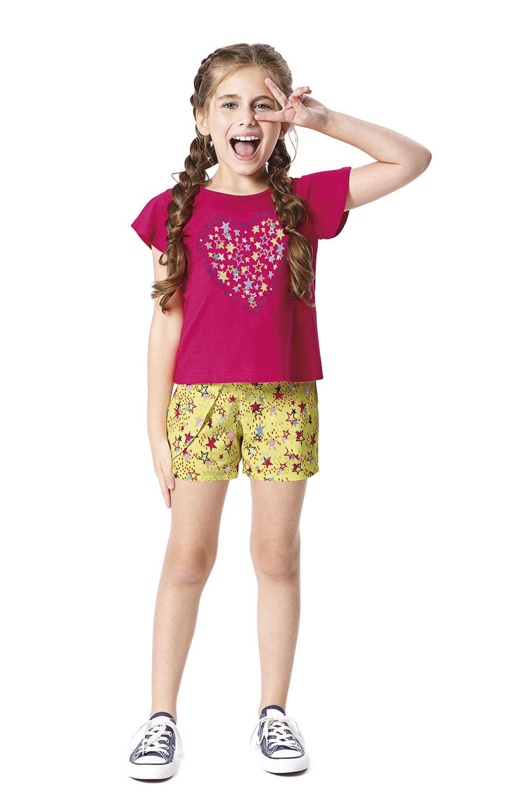 Conjunto Estrelas Menina Malwee Kids