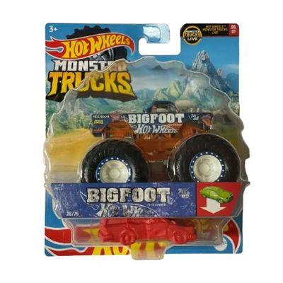Veiculo-Die-Cast---Hot-Wheels---1-64---Monster-Trucks---Novo-BigFoot---Mattel_Frente