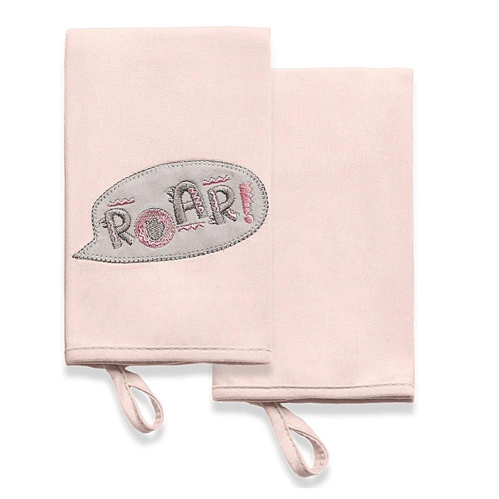 Kit com 2 Babinhas Meus Dinos Hug Rosa E15201B