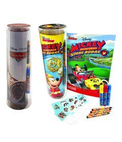 Kit-de-Tubos-de-Historias-para-Colorir---Disney---Carros-3-e-Mickey-Mouse---DCL-Editora