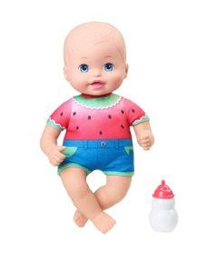 Boneca-Bebe---Little-Mommy---Recem-Nascido---Bebe-faz-Xixi---Macacao-Melancia---Mattel_Frente