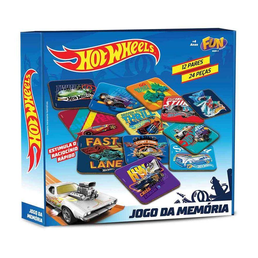 Jogo-da-Memoria---Hot-Wheels---24-Pecas---Fun-1