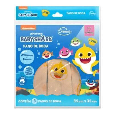 Panos-de-Boca---35x35Cm---Estampado---Baby-Shark---Cremer_Frente