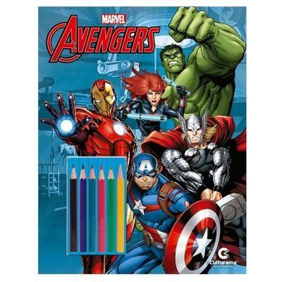 Livro-para-Colorir-e-Ler---Disney---Marvel---Vingadores-com-Lapis---Culturama