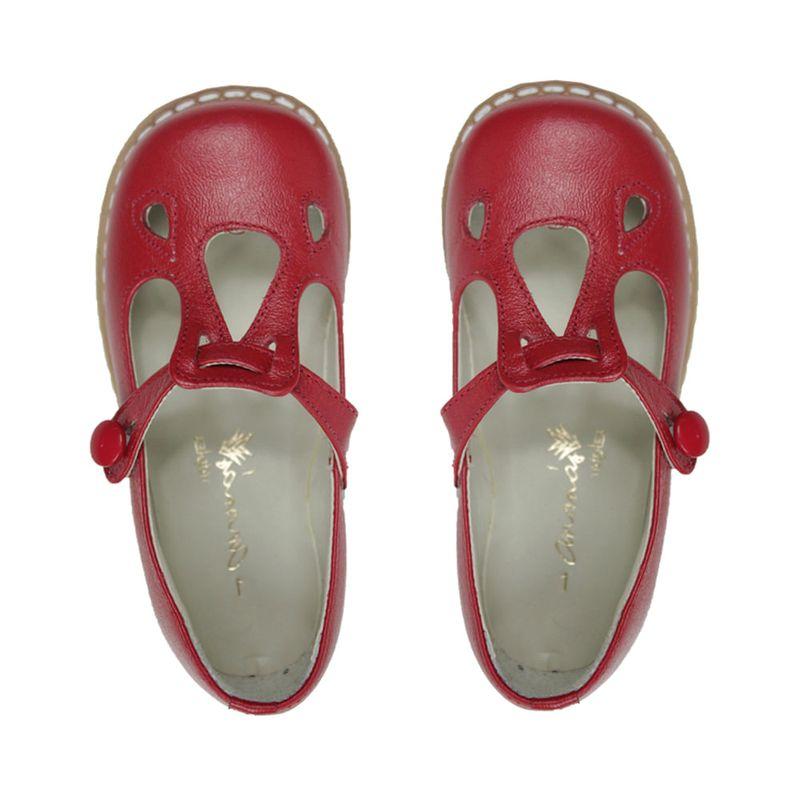 Sapato Ananás Boneca Bella Couro Metalizado Ouro - Ri