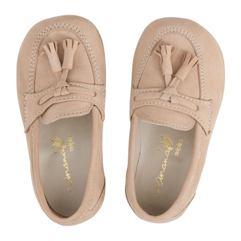 Sapato Ananás George Dots Couro Marfim - Ri Happy Brinquedos