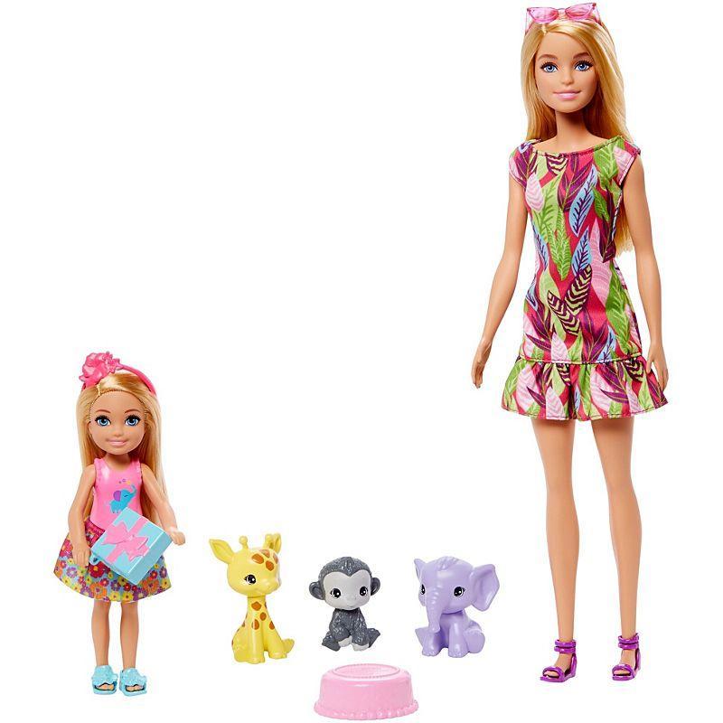 Boneca Barbie Festa De Aniversario Da Chelsea Playset Com 3 Pet E 2 Bonecas