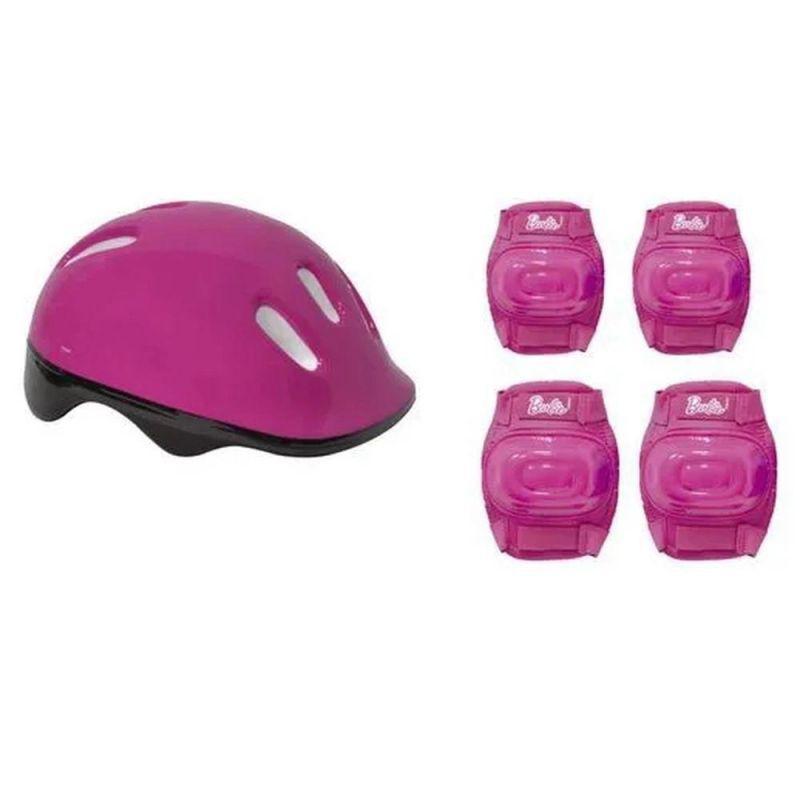 Patins Barbie Com Kit Proteção Transformar 3 Roda E 4 Rodas 29 A 32 Ajustavel