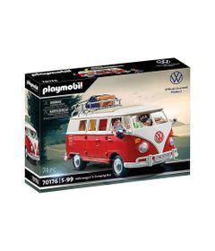 Mini-Figuras-e-Veiculo---Volkswagen-T1---Camping-Bus---Playmobil---Sunny-0