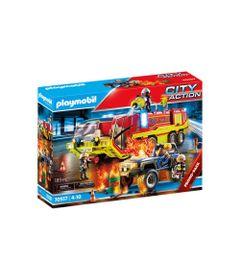Mini-Figuras---Carro-De-Bombeiros-Com-Caminhao---Playmobil---Sunny-0