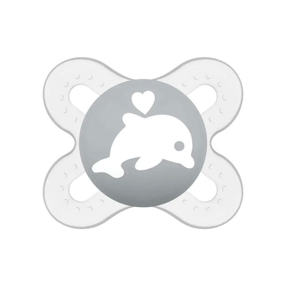 Chupeta - Start - Bico de Silicone SkinSoft - 0 a 2 Meses - Golfinho - MAM