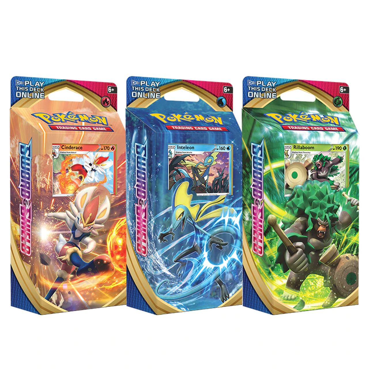 Pokémon 3 Deck Rillaboom Inteleon Cinderace Espada e Escudo