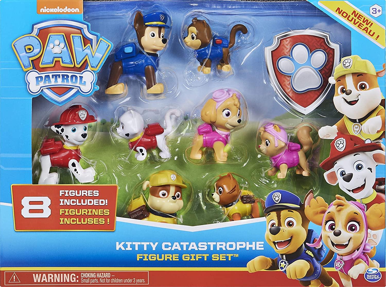 Patrulha canina - Set 8 Figuras - Kitty Catastrophe - Sunny