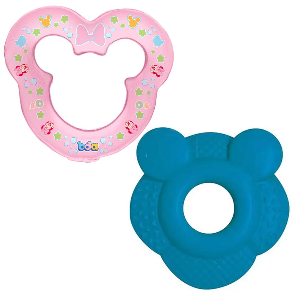Kit de Mordedores - Disney Baby - Mickey e Minnie - Toyster