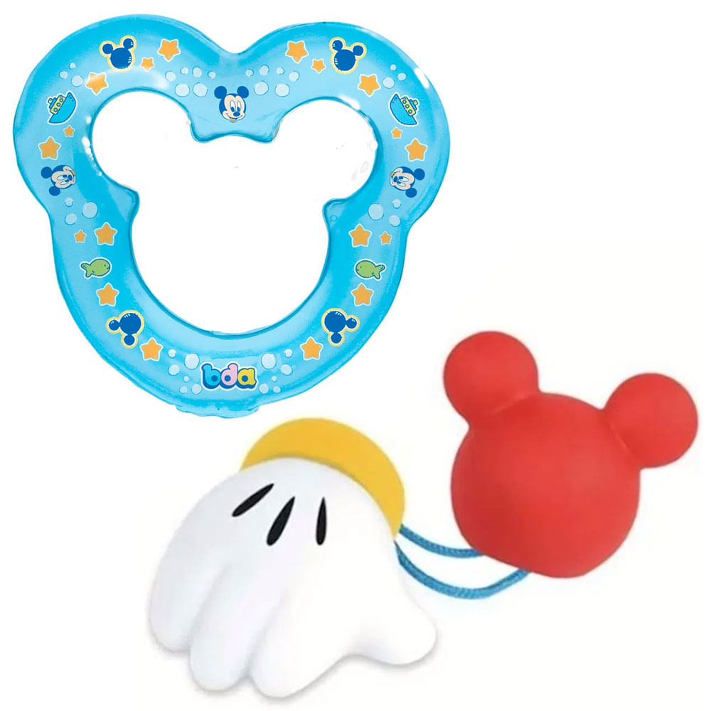 Kit de Mordedores e Chocalho - Disney Baby - Mickey Mouse - Toyster