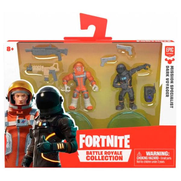 Kit com 2 Mini Figuras Fortnite Mission Specialist e Dark Voyage - Fun