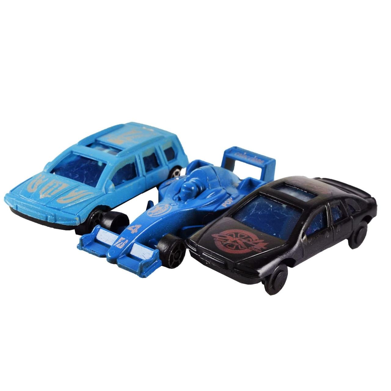 Carrinhos Coleção De Plástico Roda Livre Com 3 Peças