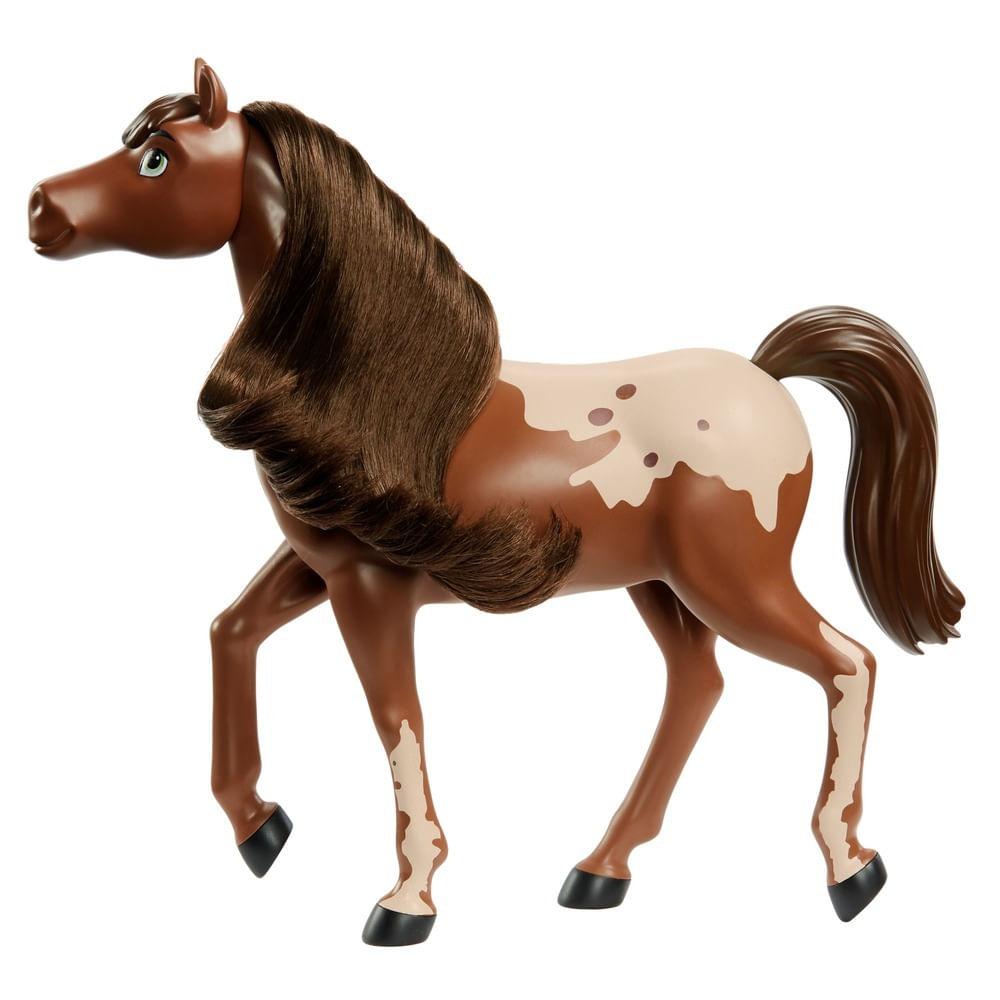 Boneco - Rebanho de Cavalos Deluxe - Marrom e Branco - Spirit - Mattel