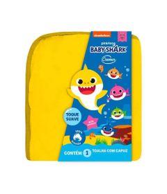 Toalha-Infantil-com-Capuz---90x75Cm---Baby-Shark---Amarela---Cremer_Frente