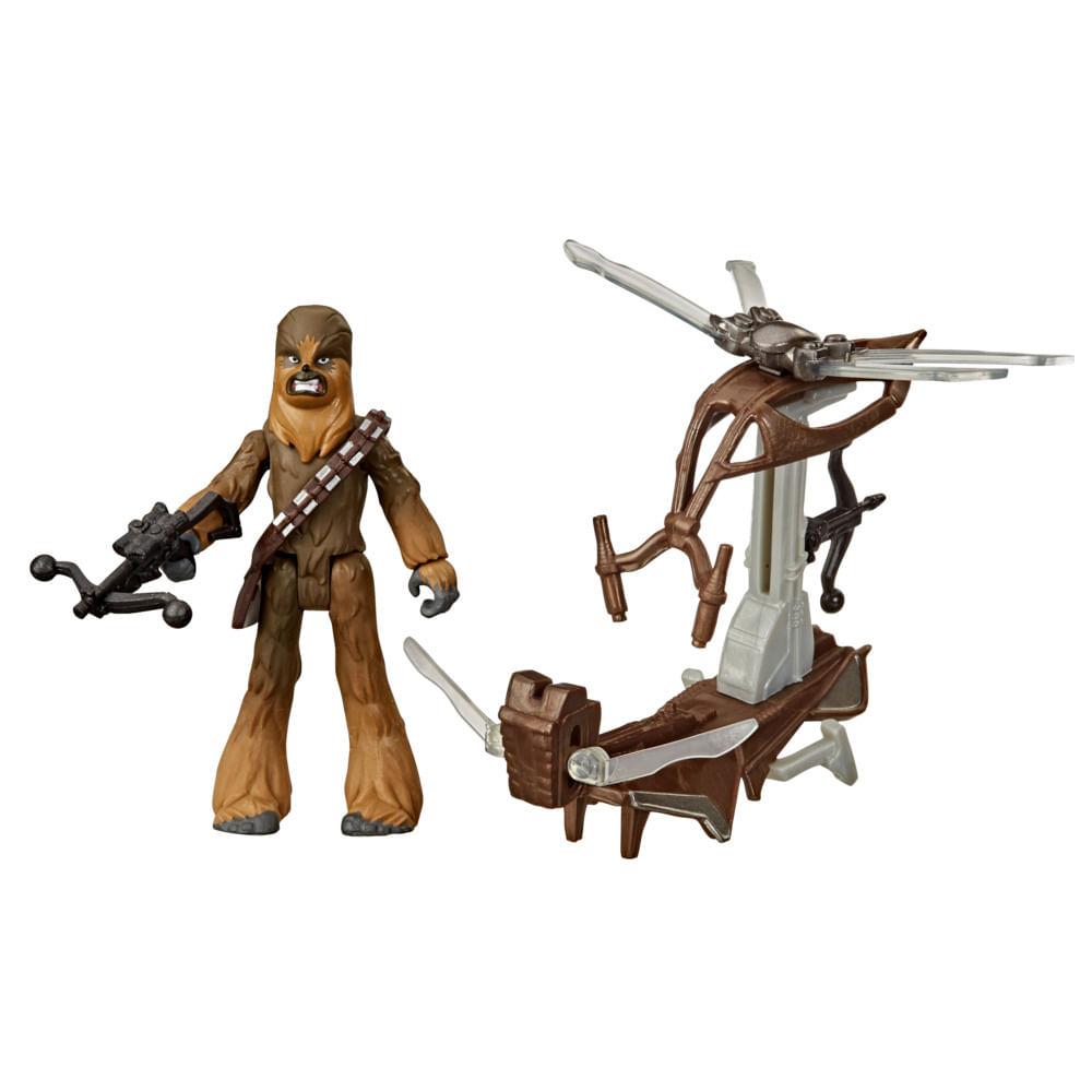 Veículo e Mini Figura Articulada - Disney - Star Wars - Mission Fleet - Chewbacca - Hasbro