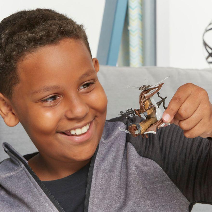 Veiculo-e-Mini-Figura-Articulada---Disney---Star-Wars---Mission-Fleet---Chewbacca---Hasbro-3