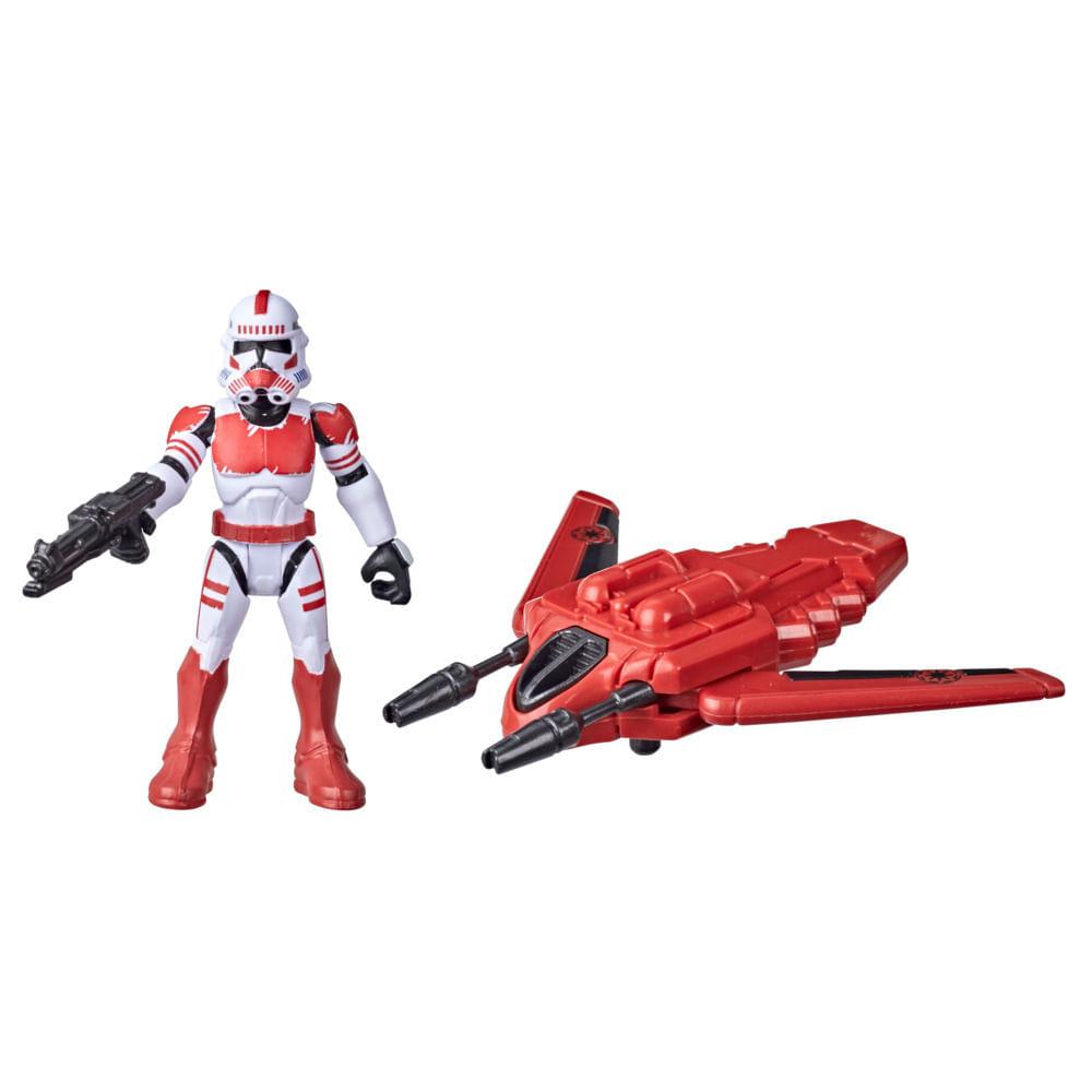 Veículo e Mini Figura Articulada - Disney - Star Wars - Mission Fleet - Shock Troop - Hasbro