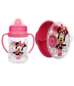 Kit-de-Copo-de-Treinamento---300Ml-e-Prato-com-Divioria---Disney---Minnie---BabyGo